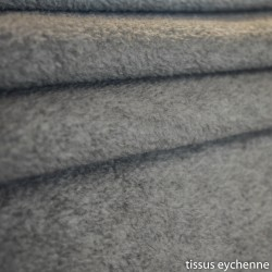 Tissu polaire polyester gris fonce