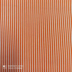 Tissu coton rayure Kids orange
