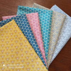 6 coupons 30x50cm coton riad - lot 1