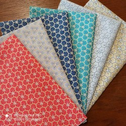 6 coupons 30x50cm coton riad - lot 2